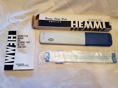 "Slide Rule, Teledyne Post ""hemmi"" No. 1420, New In Box With Case, Manual"