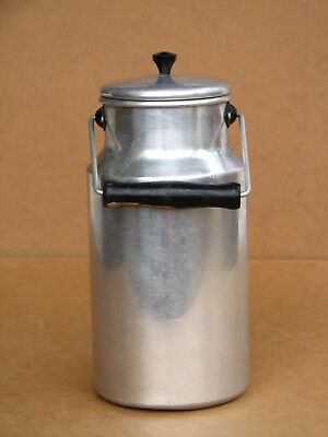 Vintage Old Milk Can Churn Container Jug Kitchenware 2L Aluminum East Europe