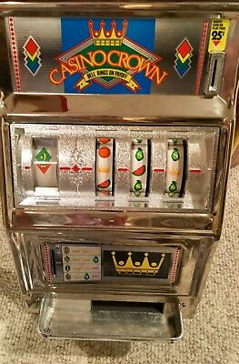 WACO Casino Crown Slot Machine Coin Bank w/ Bell Rings on Payoff Sounds NICE !