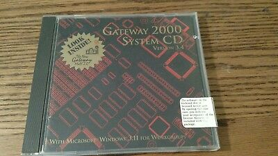 Gateway 2000 system cd version 3.4 with Microsoft Windows 3.11 for workgroups