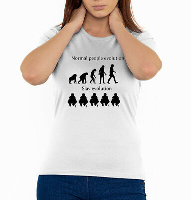 Slav evolution Eastern Europe style squat men/'s t shirt black top quality