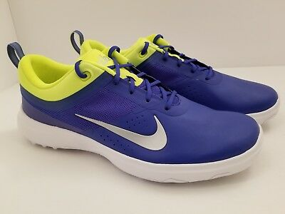 competitive price ba759 540f5 Nike Akamai Spikeless Blue Volt Golf Shoes 818732-401 Womens Size 8