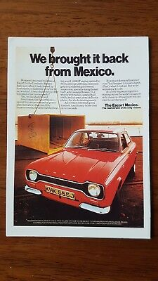 Ford Escort Mk1 Mexico Postcard Vintage Ad Galllery VF81PC Mint Rally 1600GT