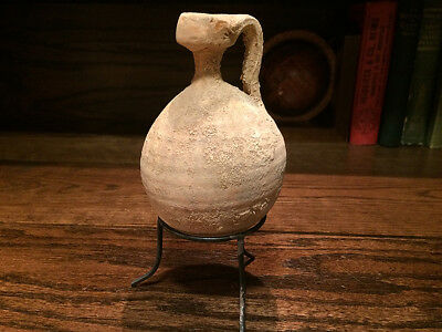 Holy Land Oil Juglet (Dipper)  /  Jerusalem Ancient Clay Pottery / Herodian Age