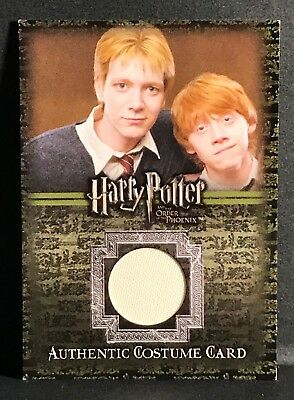 Harry Potter OOTP Costume Card George Weasley C12 #253 Oliver Phelps Phoenix
