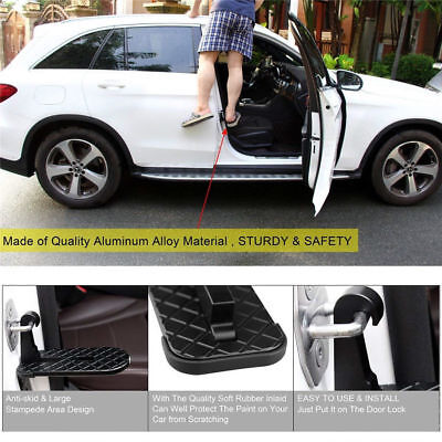 Fold Car Door Latch Hook Step Mini Foot Pedal Ladder For Jeep SUV Truck Roof Z