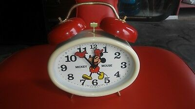 Bradley Made In Germany Wind Up 2 Bell Mickey Mouse Alarm Clock
