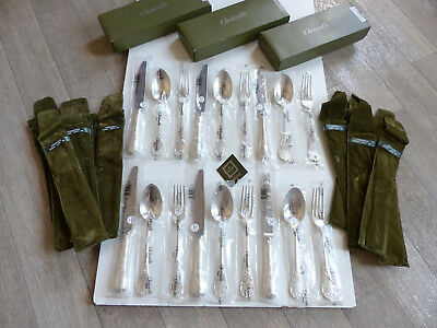 Rare Christofle Marly Solid Sterling Silver 925 18 Pcs Dinner Set New Sealed