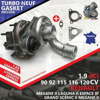 Turbo NEUF RENAULT SCÉNIC II 1.9 dCi -88 Kw 120 Cv 708639-4 Avec Joints Gaskets