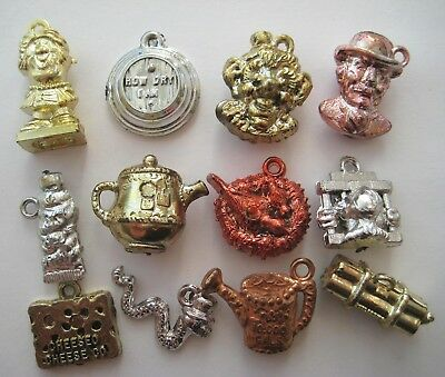 VINTAGE Metallic Plastic EPPY GUMBALL CHARM Fun Silly Word Lot