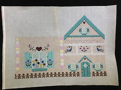 3 Hand-painted Needlepoint Canvases 3-D Gingerbread House/PRICE DROPPED 75%!!!