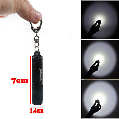 8000 lumen XPE Q5 LED mini Flashlight Torch Light Pocket Keychain Handy Lamp AAA