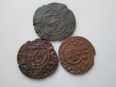 Sweden medieval 3 copper coins, counterf. of the period