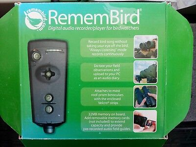 Remembird Digital Sound Recorder/ Player For Birdwatchers To fit in binoculars