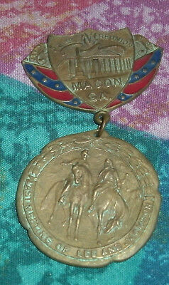 UCV 1912  United Confederate Veterans Reunion Badge Medal MACON GEORGIA REPRO ?