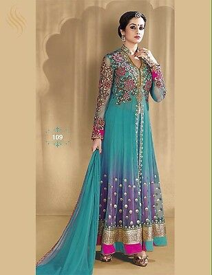 "Indian Anarkali Designer Net Dress For Wedding Party EID Fully Stitched 42"" XL"