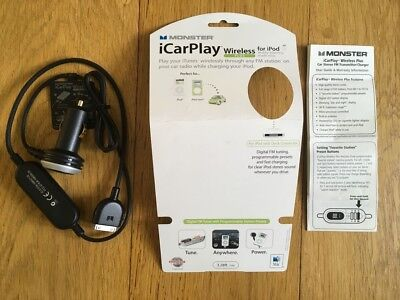 Monster iCarPlay Wireless Plus FM Transmitter/Charger for iPod - Good condition