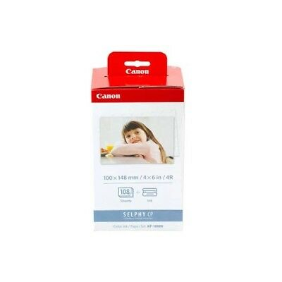 Canon KP-108IN Ink/Paper Set Selphy CP Compact Photo Printer Color Ink and Paper