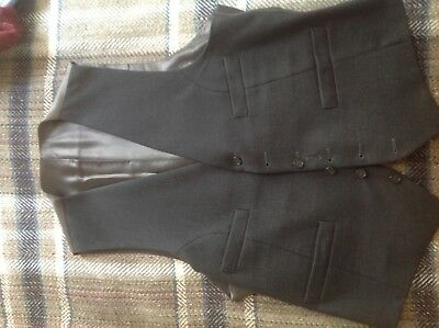 VINTAGE Gent's Waistcoat, Grey wool, Tailormade, lovely quality, chest 40-42""
