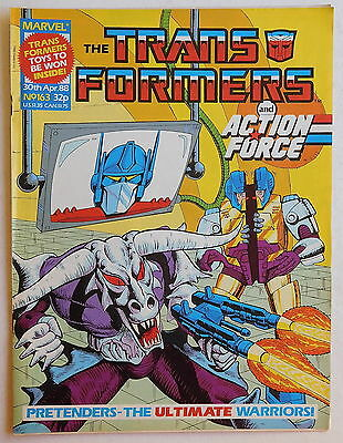 TRANSFORMERS COMIC #163 - 30th April 1988 - Marvel UK, Action Force
