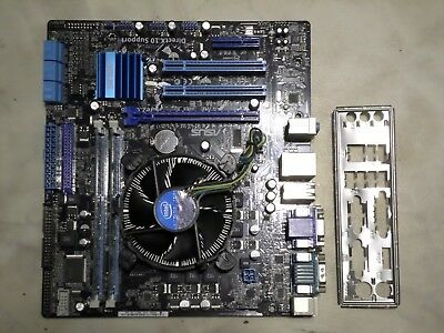 Asus P7H55-M LE Mainboard + Intel i3 550 CPU 3,2GHz , 4GB DDR3 Ram, Blende