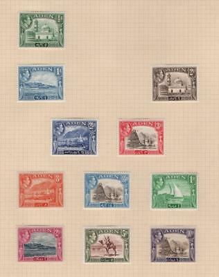 ADEN: George VI Examples - Ex-Old Time Collection - Album Page (19255)