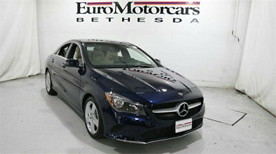 2018 Mercedes-Benz CLA CLA 250 4MATIC Coupe mercedes benz cla250 cla 4matic awd blue 18 used navigation blind spot coupe