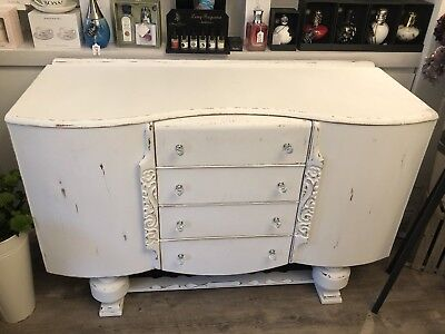 Vintage 1950's sideboard by Beautillity White Shabby Chic
