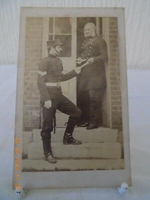 MILITARY CDV GENERAL ALEX ANDERSON & ORDERLY Lt F SHAW CRIMEA INTEREST c1862