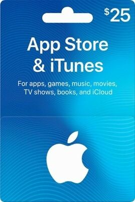 $25 USD Apple iTunes Gift Card - Valid for USA