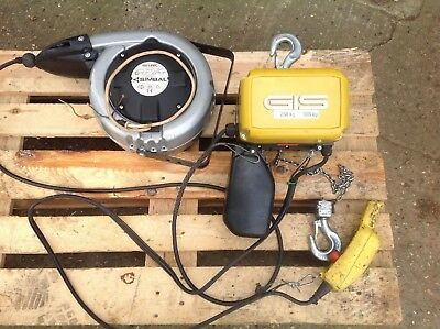 Electric Overhead Crane Hoist. Gis - Gch 250. 3 Phase, With Auto Cable Reel
