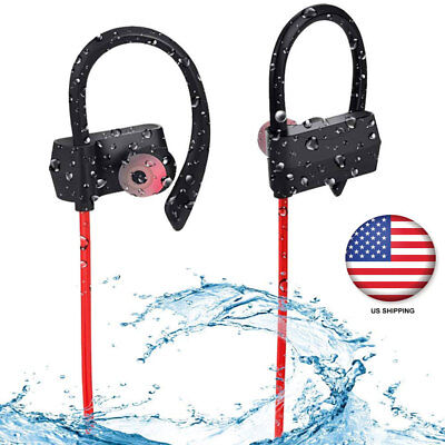 Waterpoof Bluetooth Headphones Sport Earphones Headsets HD Stereo In-Ear Earbuds
