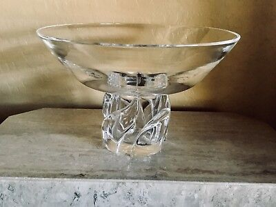 Vintage Mid Century STEUBEN Twisted Flame LARGE FOOTED CRYSTAL CENTER BOWL