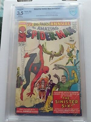 Amazing Spider-Man Annual # 1 The Sinister Six 1964 CBCS 3.5 Marvel Comic Book