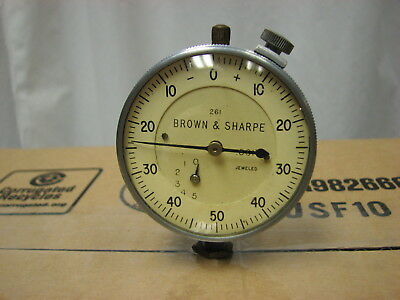 Vintage Brown & Sharpe 261 Jeweled .001 Dial Indicator Gage, Steampunk,
