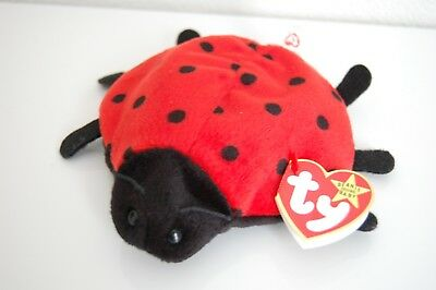 RARE 21 Spot Lucky the Ladybug TY Beanie Baby 4th/3rd AUTHENTIC MWMT MQ!