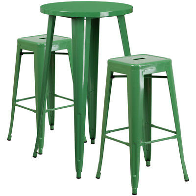 Flash Furniture Contemporary Table Chair Set In Green CH-51080BH-2-30SQST-GN-GG