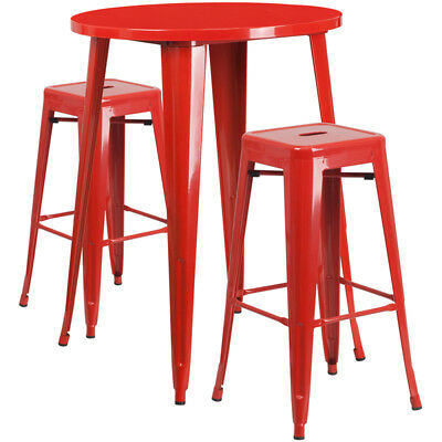 Flash Furniture Contemporary Table Chair Set In Red CH-51090BH-2-30SQST-RED-GG