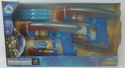Authentic Disney Store Marvel Avengers Infinity War Star-Lord Element Blasters