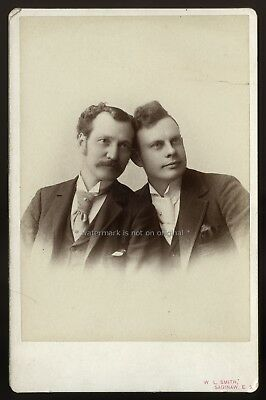 Rare Dated ~ East Saginaw Michigan MI Cabinet Photo ~ Gay Interest or Brothers