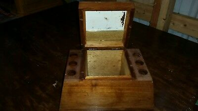 Wooden Pipe Stand and Humidor