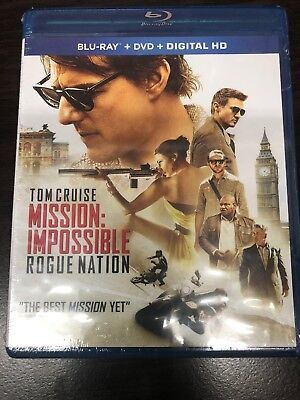 Mission: Impossible - Rogue Nation (Blu-ray+DVD) Tom Cruise - Action Spy Movie