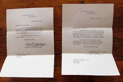 "Two 1942 White House Letters Signed ""M.H. McIntyre"",  FDR's Secretary"