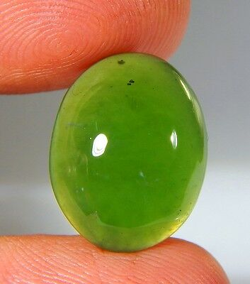 06 Ct Natural Ring Size Deep Green Serpentine  Jade Oval Cabochon  Gemstone A168