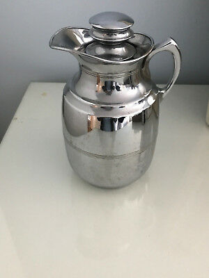 VINTAGE THERMOS FLASK JUG THERMOS LIMITED LONDON MODEL 29 CHROME Cork Stopper
