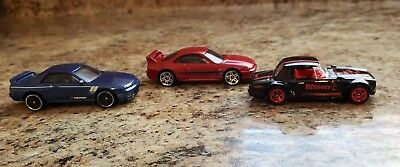 Hot Wheels  2018 Fairlady 2019 Skyline  GT-R BNR32 & GTR BCNR 33 LOOSE 3 car lot