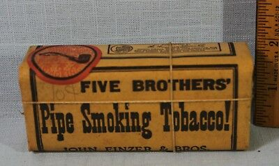 1926 Vintage Five Brothers Pipe Tobacco Sealed With Tax Stamp