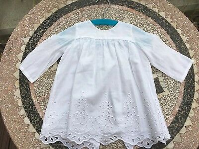 Stunning Broderie Anglaise Long Sleeved Tunic By Bonpoint  12 Months EUC