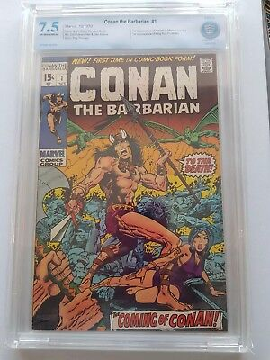 Conan the Barbarian # 1 First Appearance CBCS 7.5 Marvel Comic Book