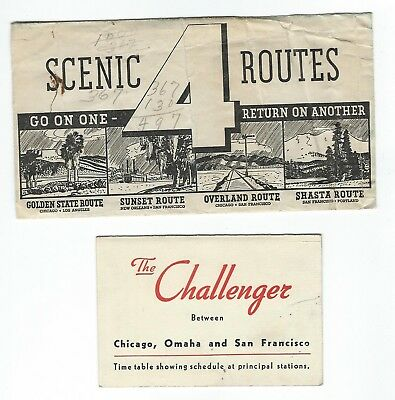 Railroad Ticket Envelope Southern Pacific Challenger
